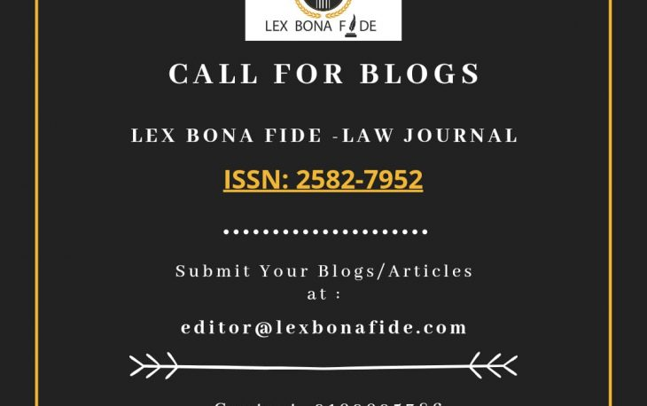 Call For Blogs, Best Law Journal in India, Law Journal in India