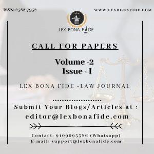 CFP Volume 2 Issue 1